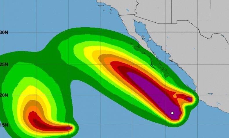 hurricane john and tropical storm ileana