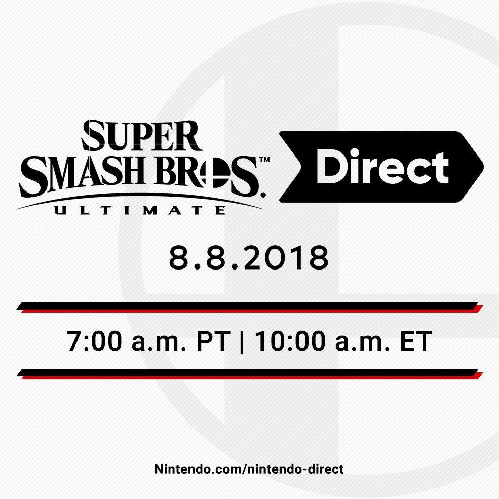 super smash bros ultimate nintendo direct august 8