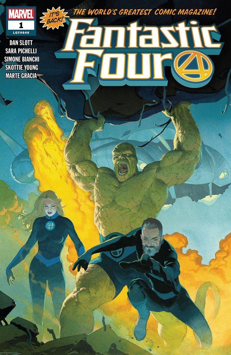 fantastic four #1 2018 cover marvel comics