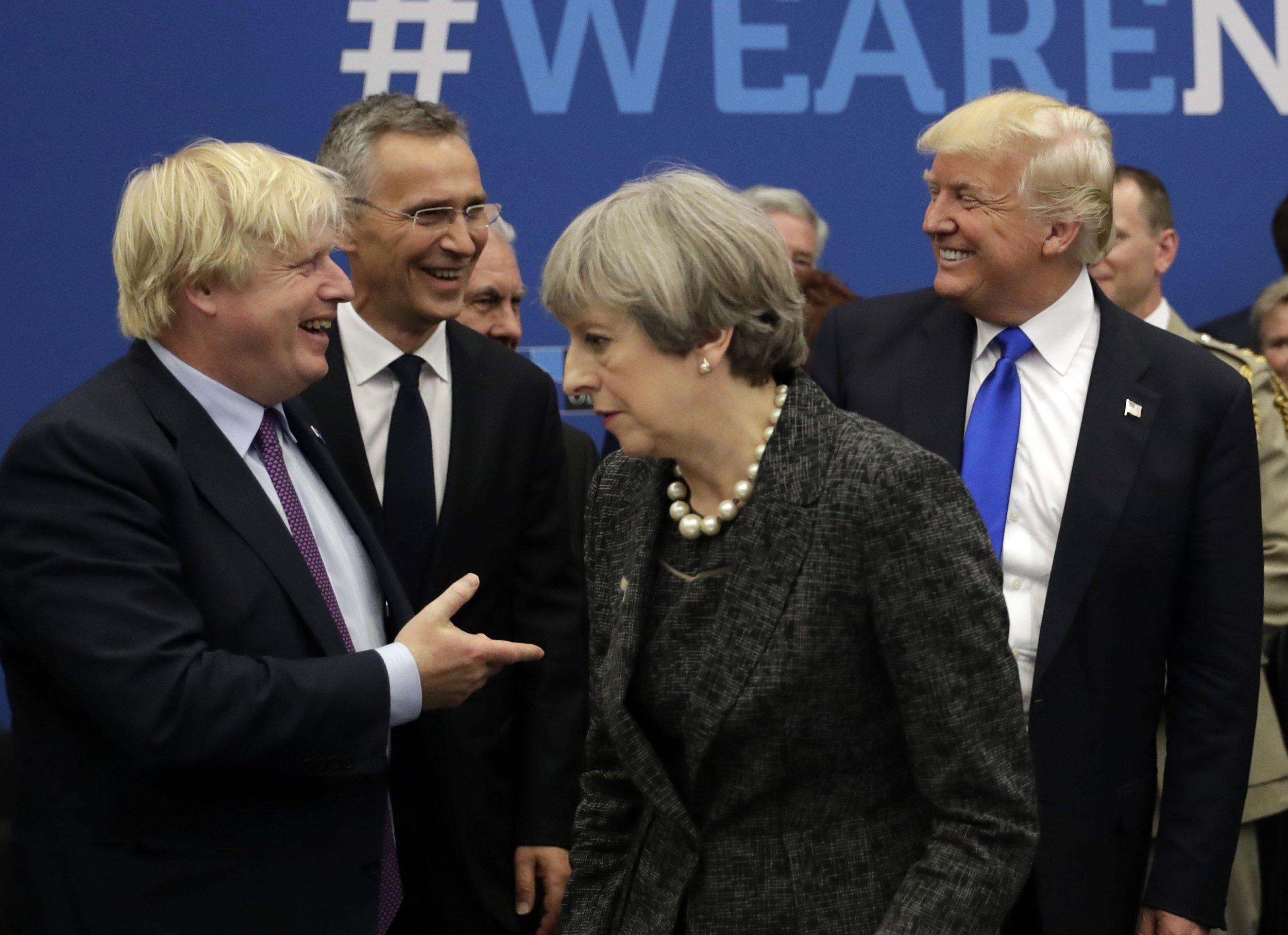 Boris Johnson Theresa May Donald Trump