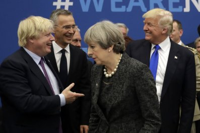 Boris Johnson Theresa May Donald Trump