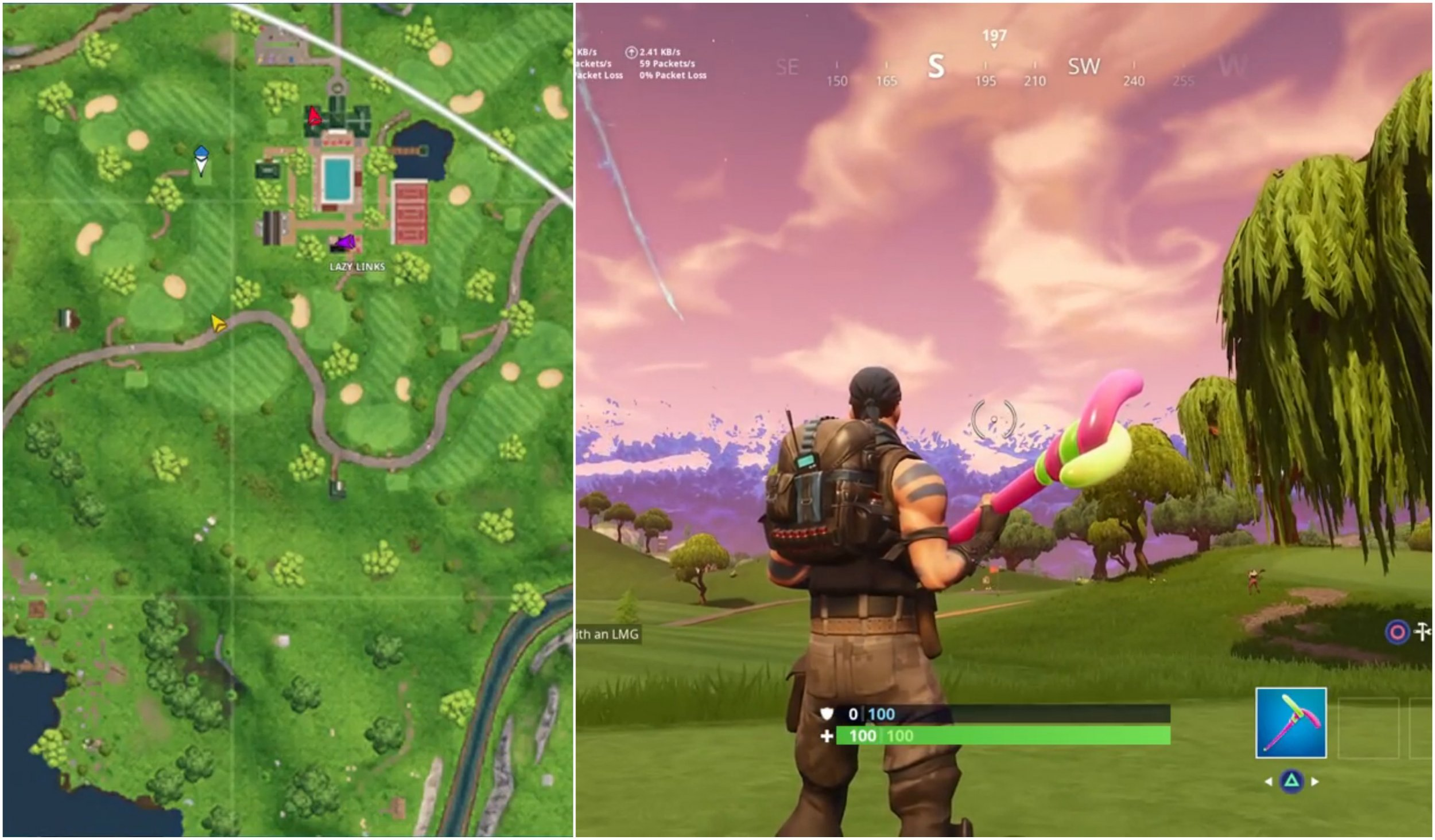 fortnite hole 3 location - fortnite golf ball