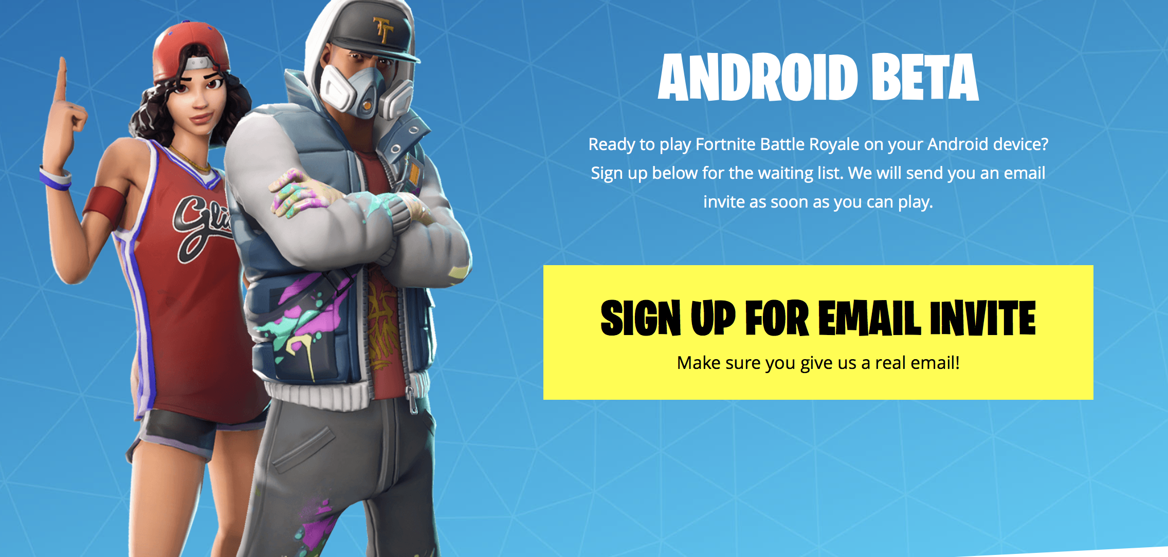 fortnite android beta sign up how to get Samsung galaxy fortnite.com/android website