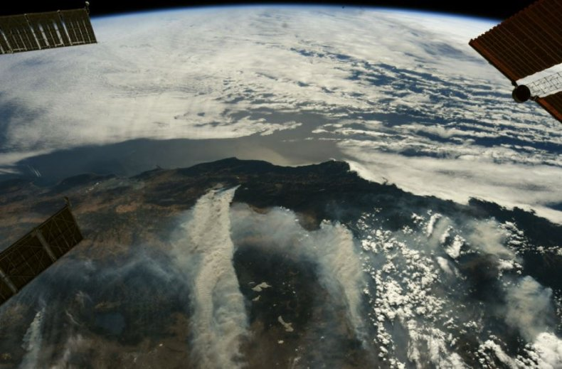 wildfire from space