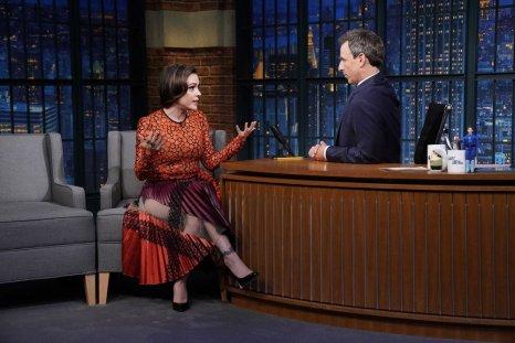 Alyssa Milano Late Night with Seth Meyers