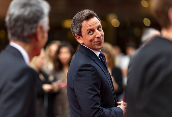 Seth Meyers Rips on Donald Trump's 'Dumba** Idea For a Space Force'