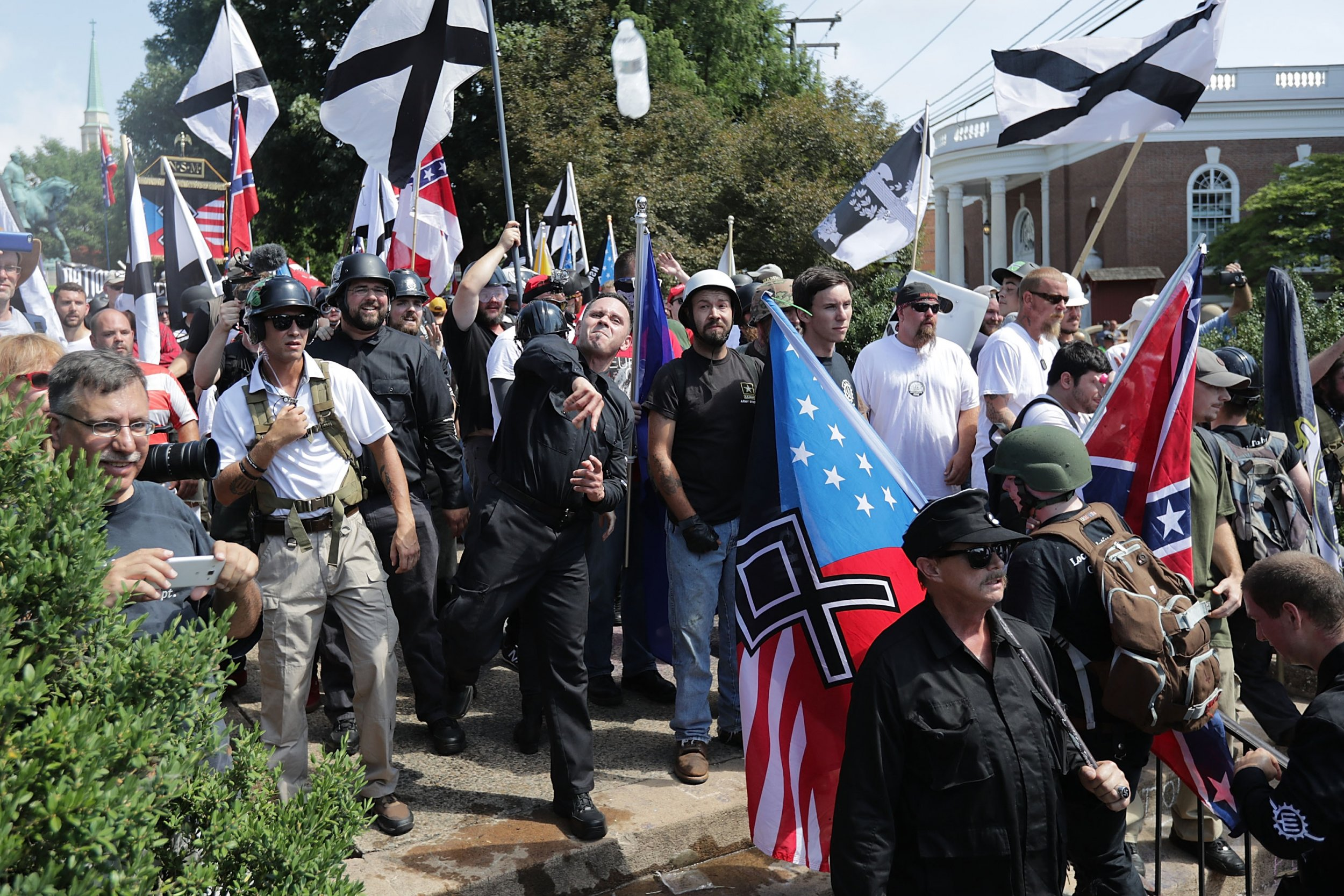 crying nazi hate spreading charlottesville