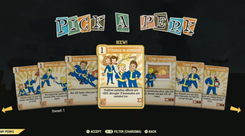 Pick a Perk