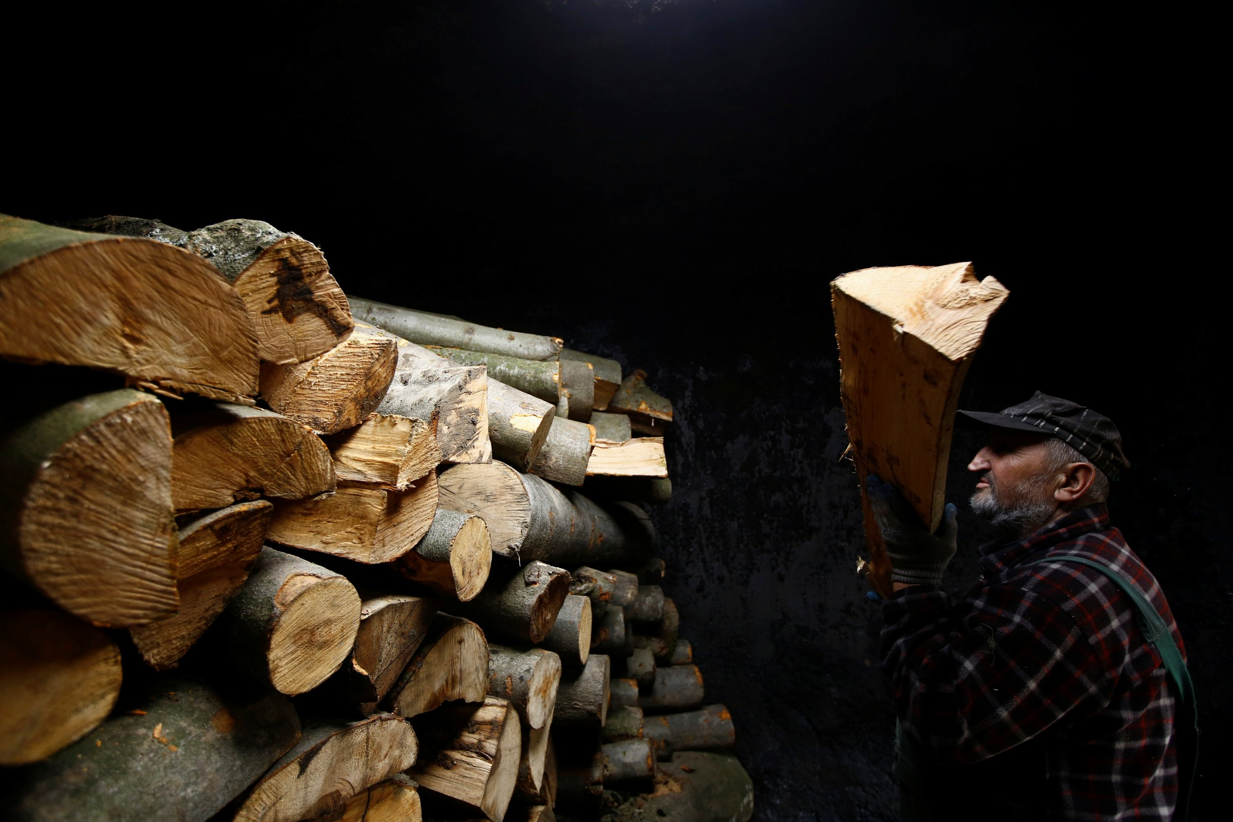 Man with Logs