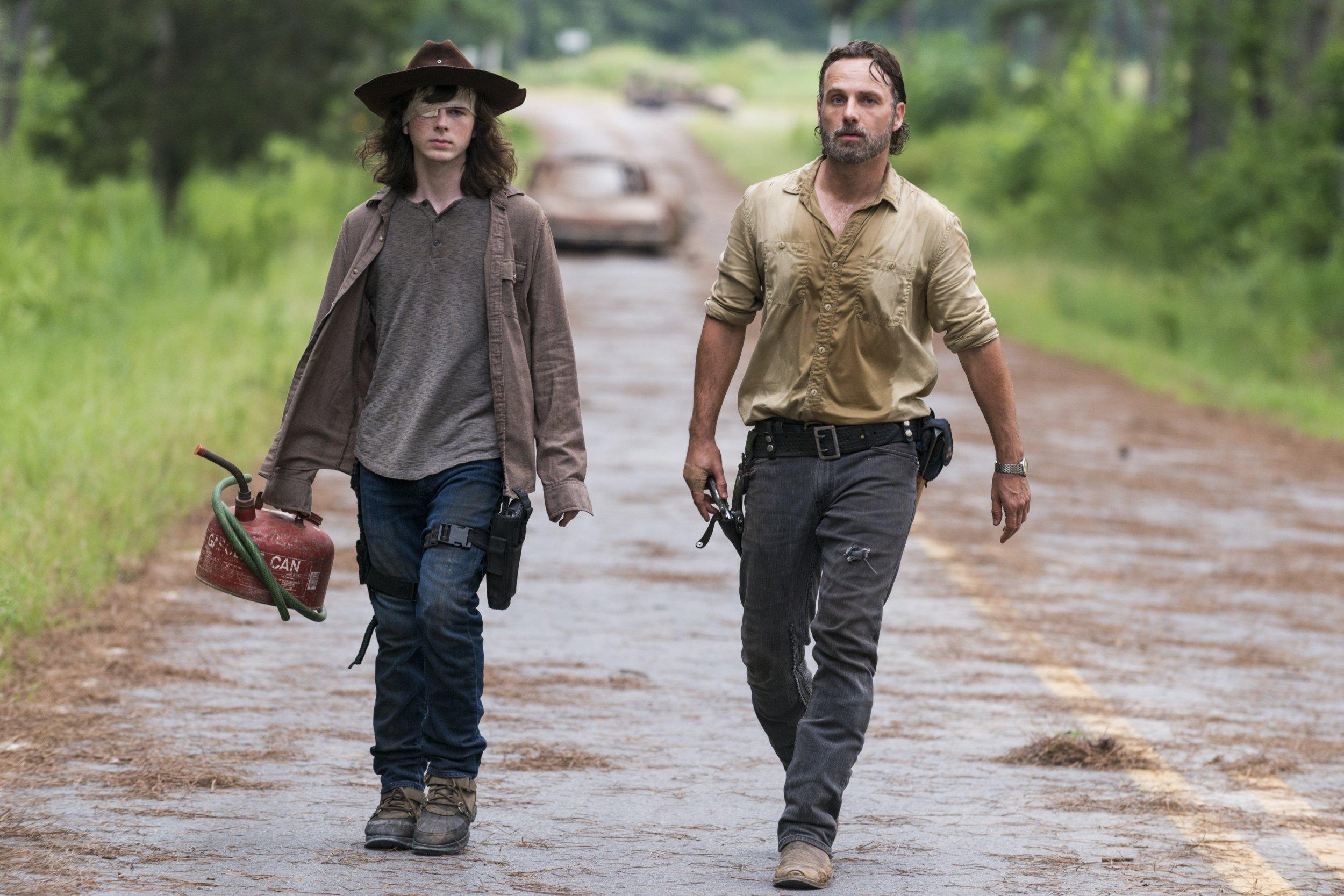 The Walking Dead Season 8 Carl Rick
