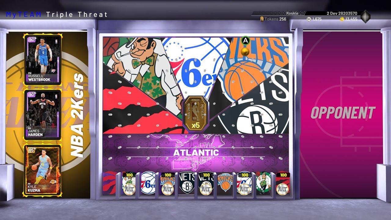 NBA 2K19 triple threat