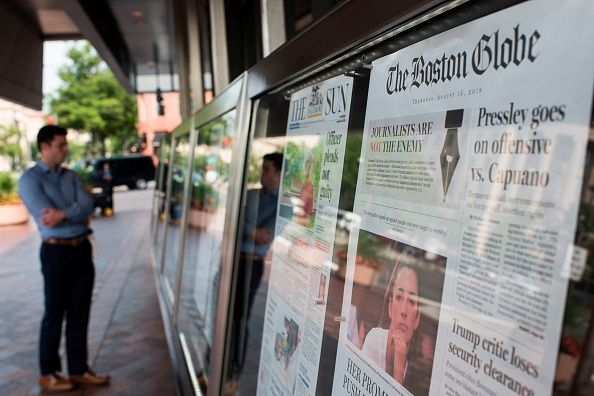 front page newspapers Anti-Trump editorials
