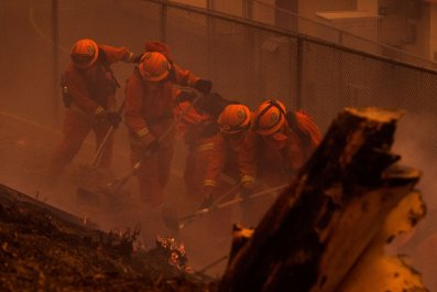 California wildfires inmates prison fires