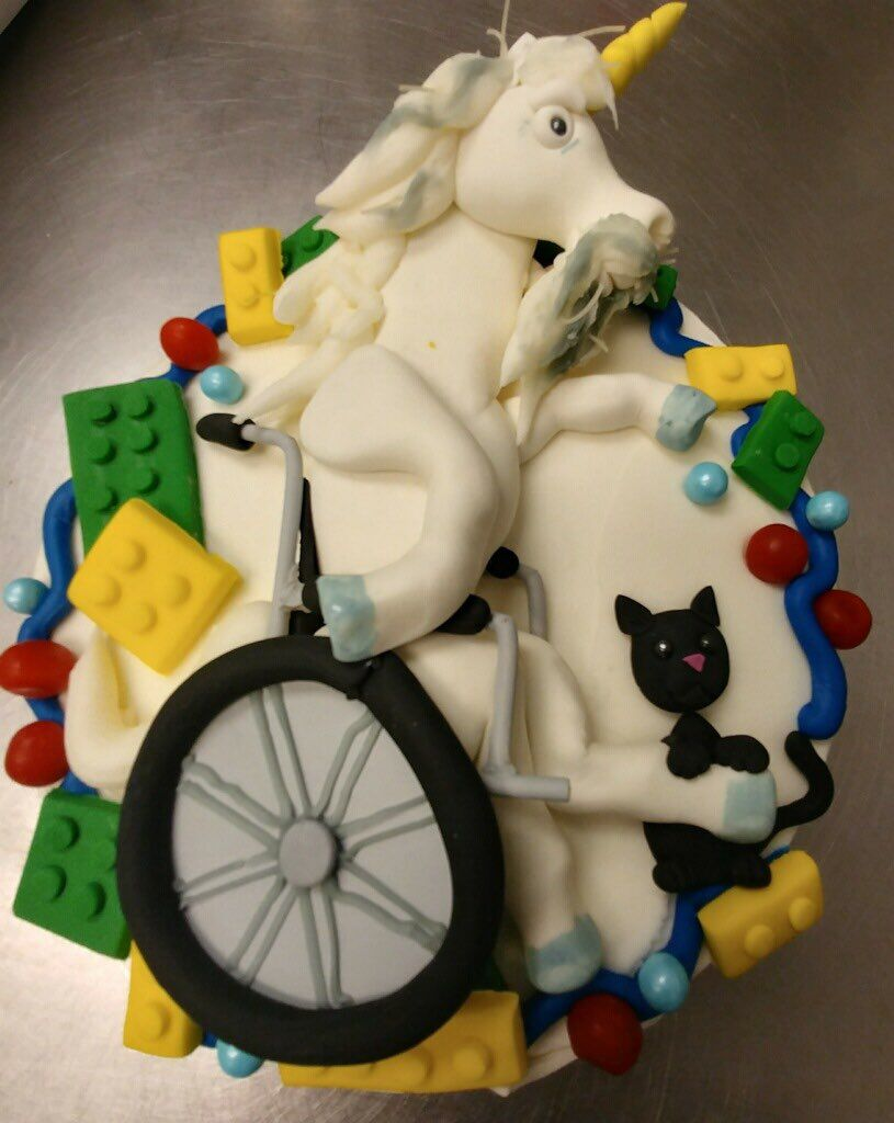 wheel chair unicorn
