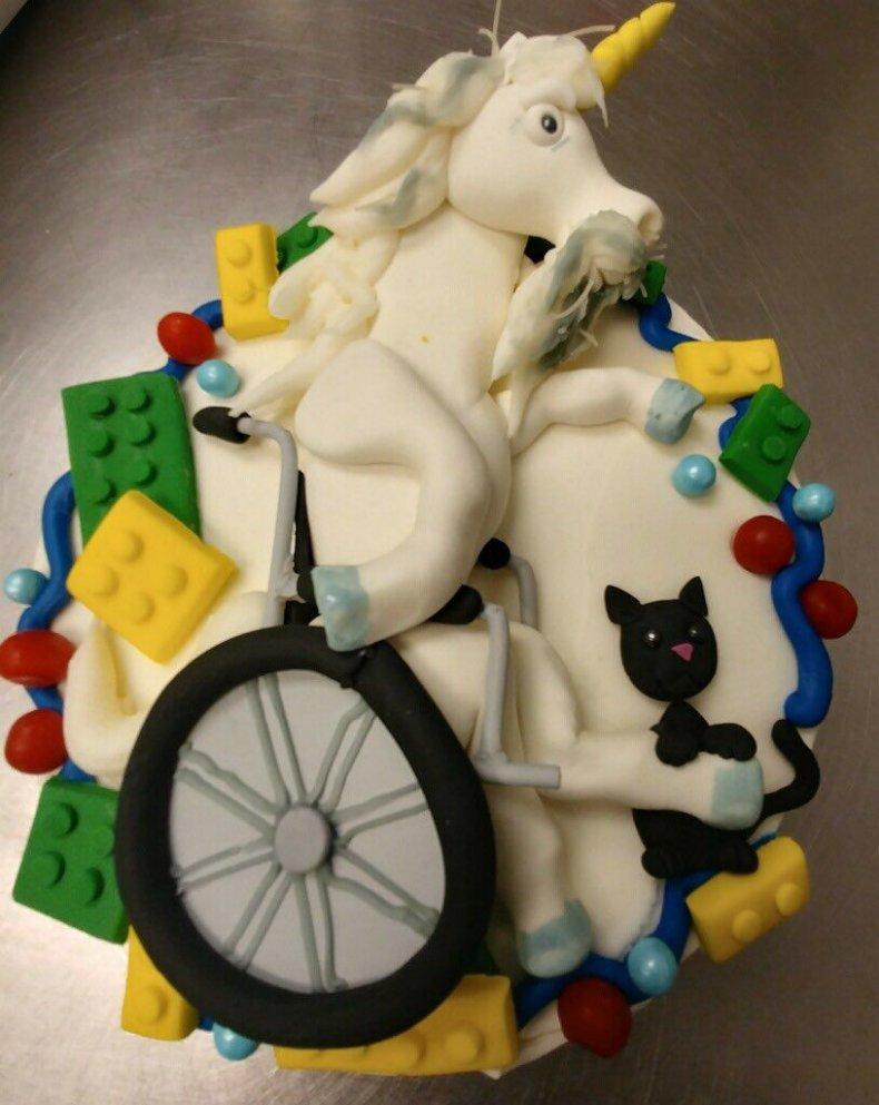 wheel chair unicorn