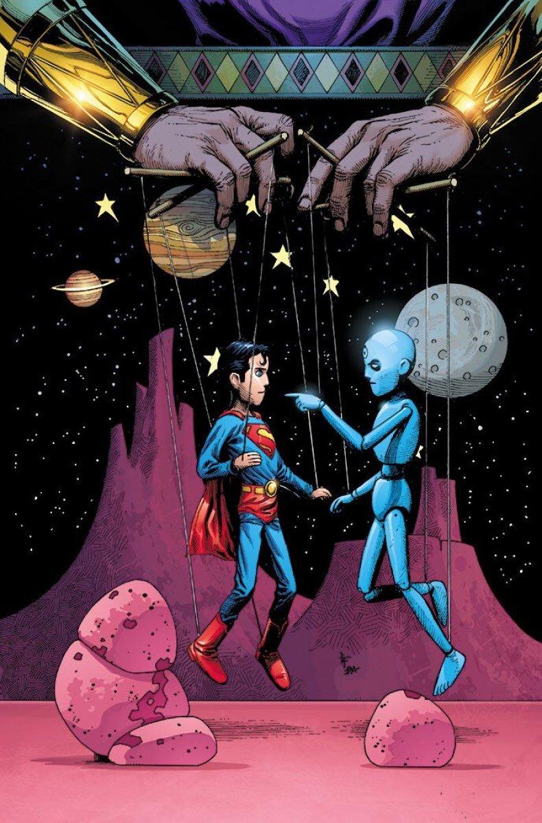 doomsday clock 8 variant  cover doctor manhattan vs superman