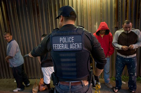 ICE agents at border