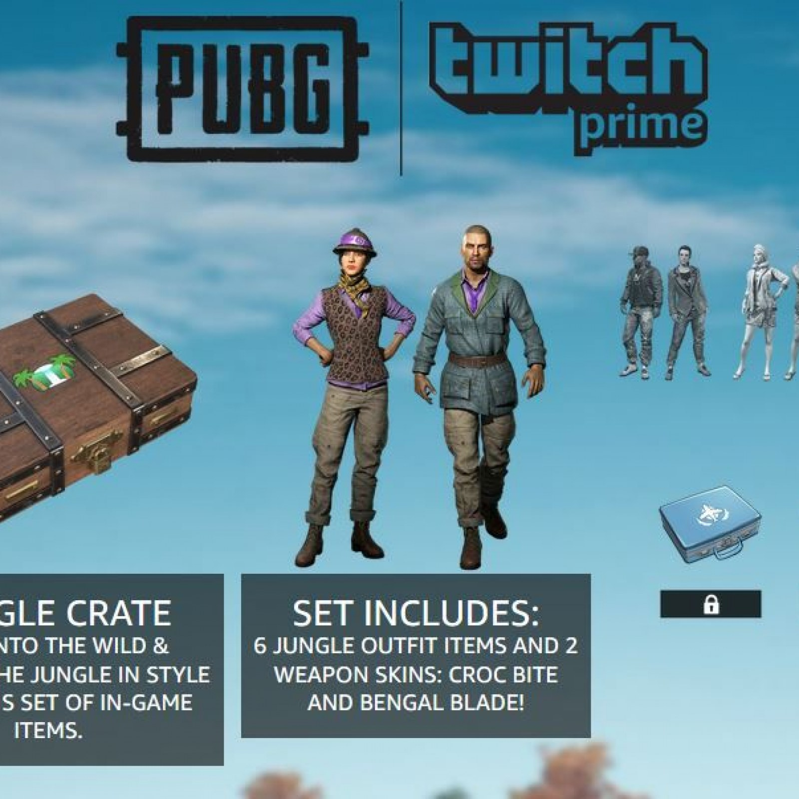 PUBG' Jungle Crate Twitch Prime Loot Live - Items & How to Get It