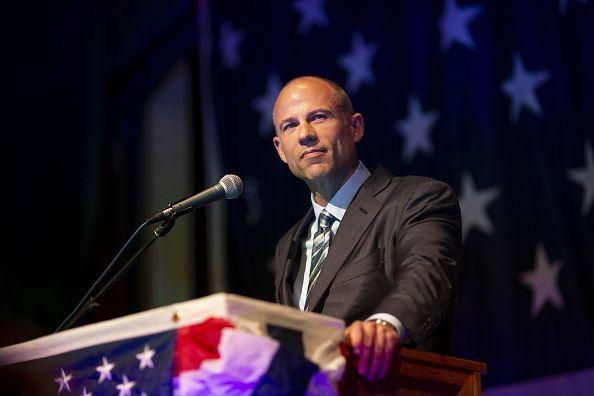 Avenatti speaks during Democratic Wing Ding event