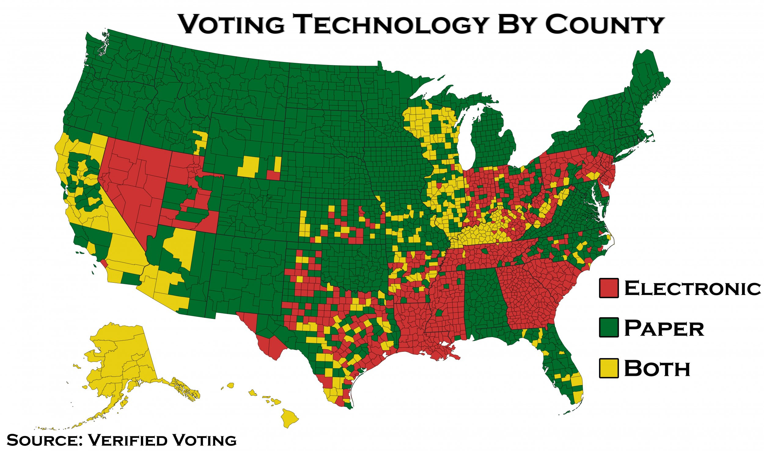 Voting Technology by County