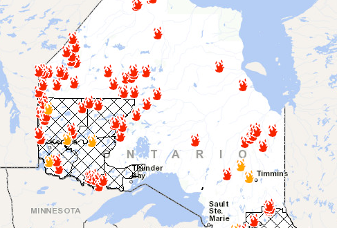 Map Of Fires In Canada Ontario Fire Map: Here's Where Canada Wildfires Are Burning