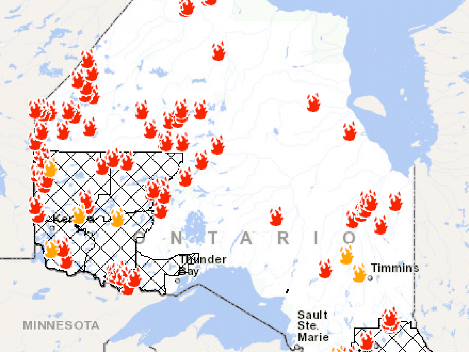 Map Of Forest Ontario Canada Ontario Fire Map: Here's Where Canada Wildfires Are Burning