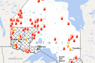 Ontario Fires Map