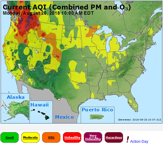 Air Quality Alerts Spokane Washington And Other Places Under