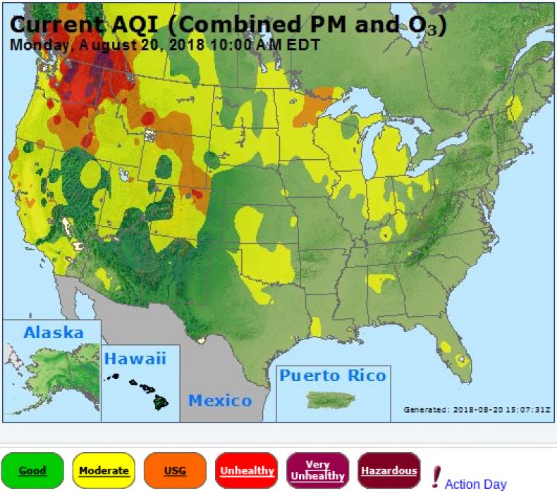 AirNOw monday map