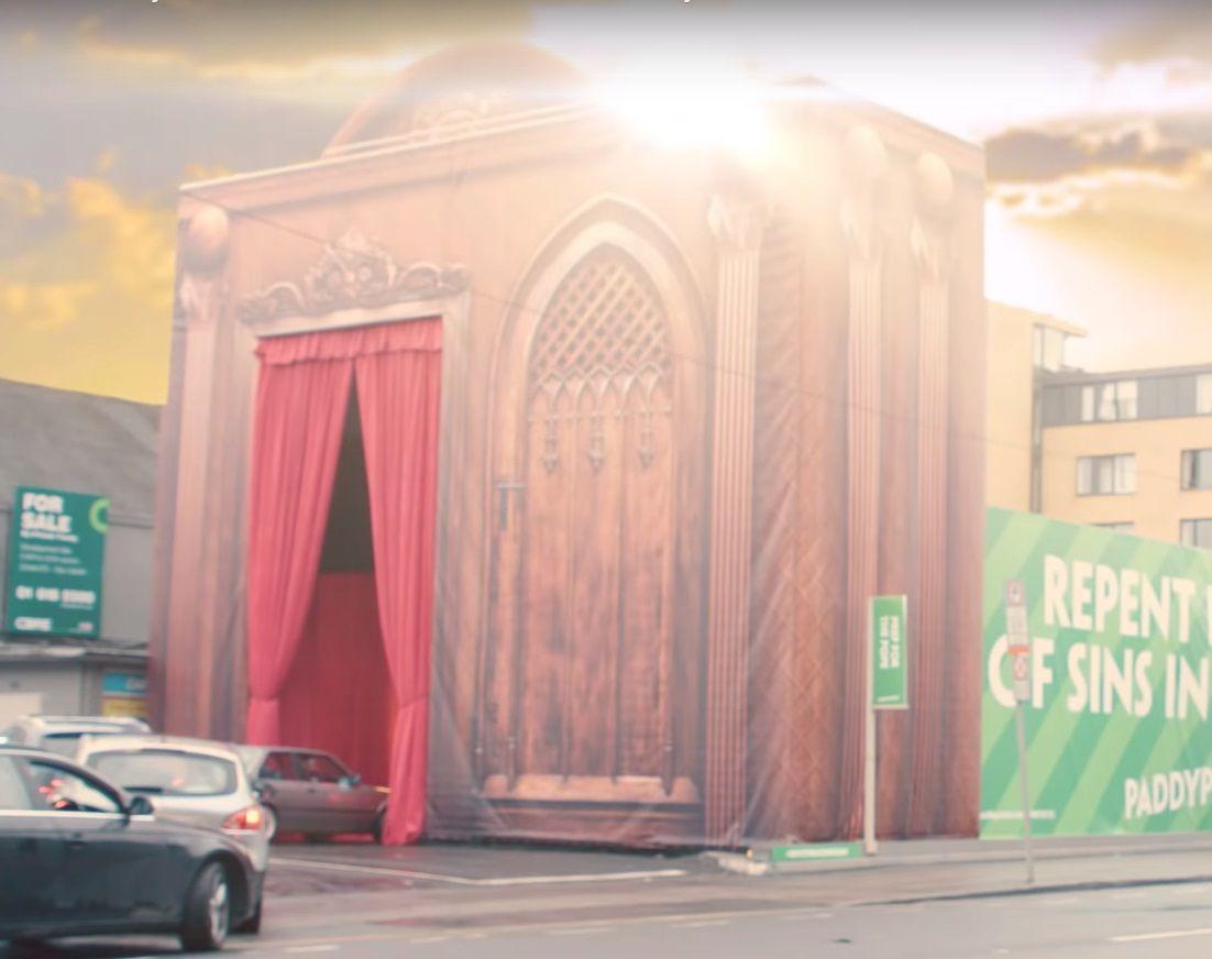 Drive-thru confession box
