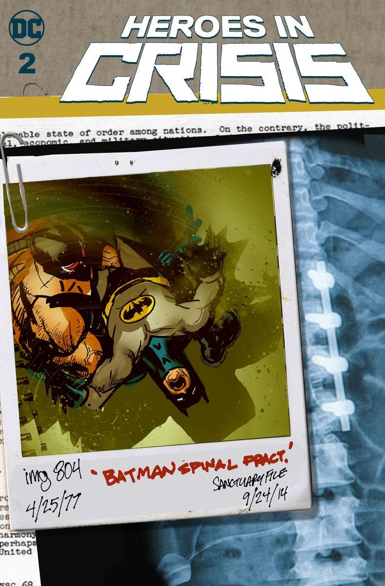 heroes in crisis #2 variant cover batman spinal fracture