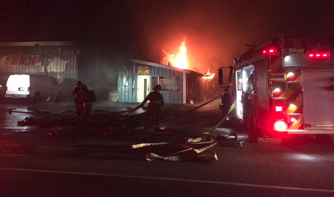 Fire in Shelton, Washington