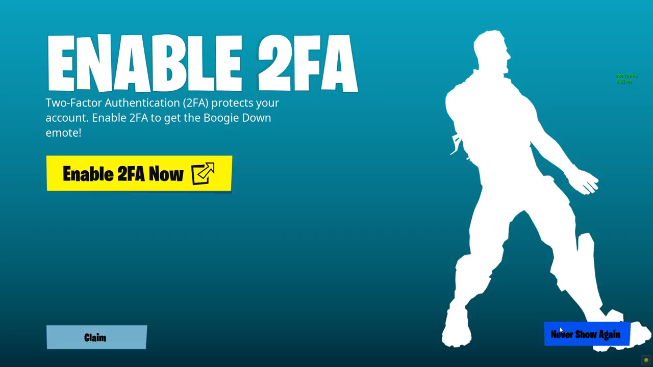 Fortnite 2fa Guide How To Get Boogie Down Free With 2 Factor Security Two Way Switch Doesnt Work