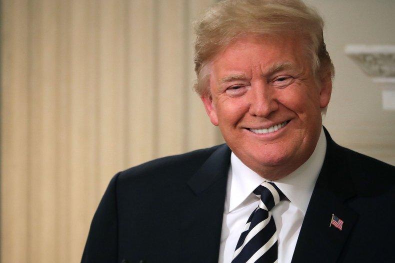 donald trump grinning