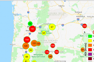 Wildfire Smoke Levels