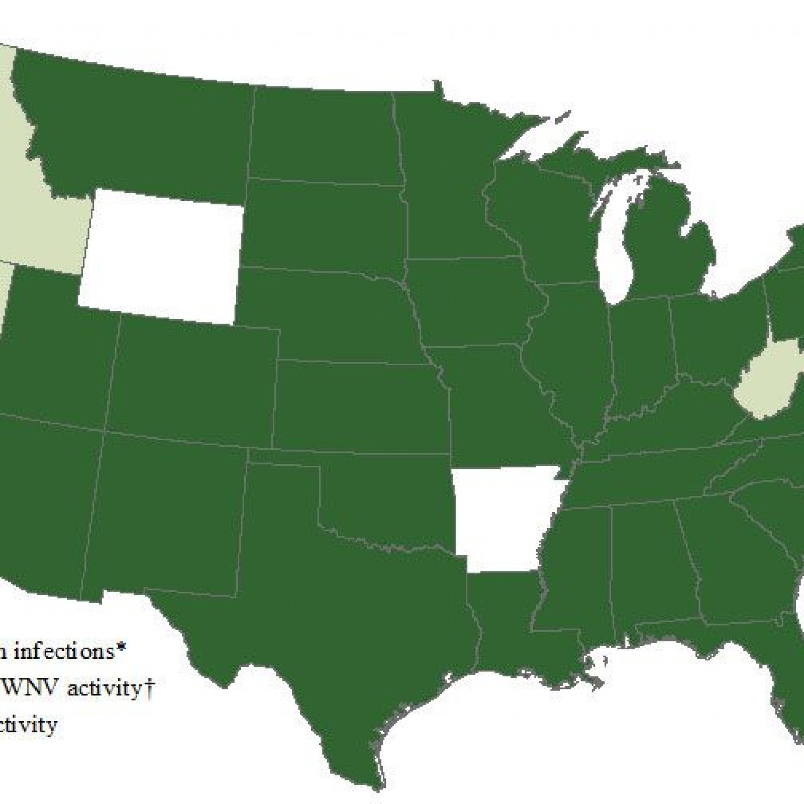 West Nile Virus Map Which States Have Confirmed Cases What Are The - Us-mosquito-population-map
