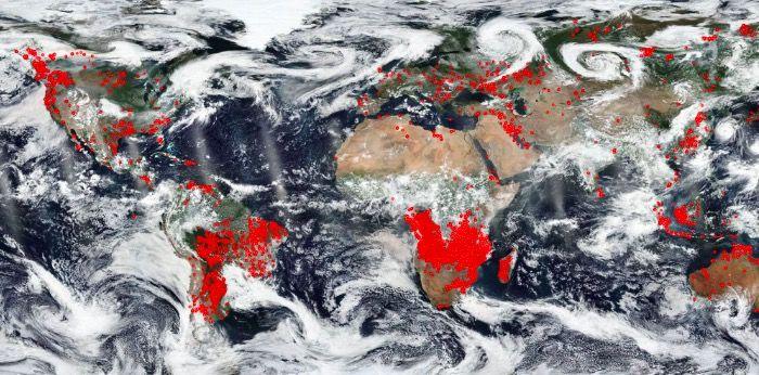 nasa wildfires around the world