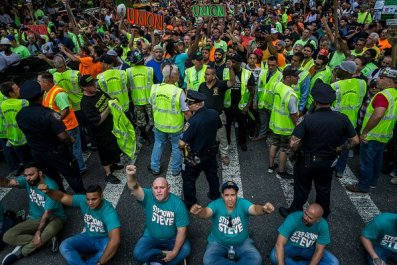 Unions Protest