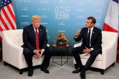Emmanuel Macron, Donald Trump, Europe security, U.S.