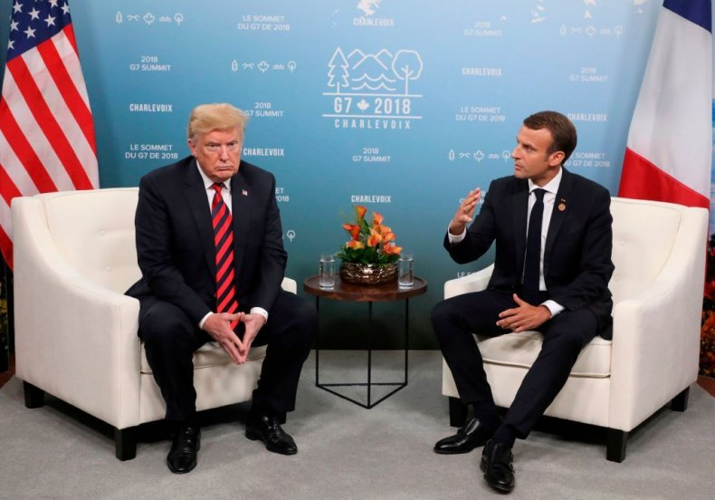 Emmanuel Macron, Donald Trump, Europe security, U.S.