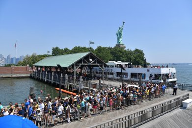 liberty island evacuation