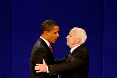 John McCain, Barack Obama, Donald Trump