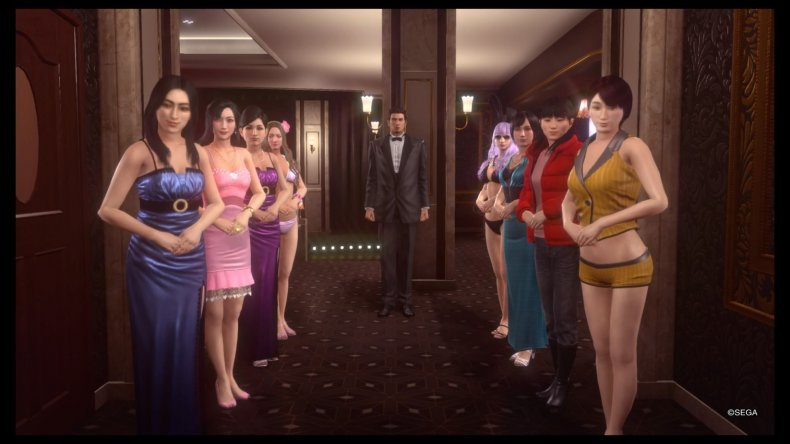 hostess greeting YAKUZA KIWAMI 2 cabaret club guide cover