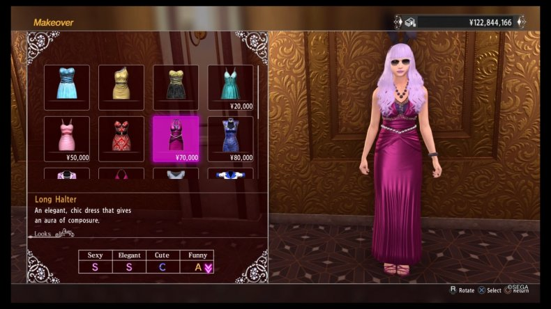platinum hostess makeover YAKUZA KIWAMI 2 cabaret guide
