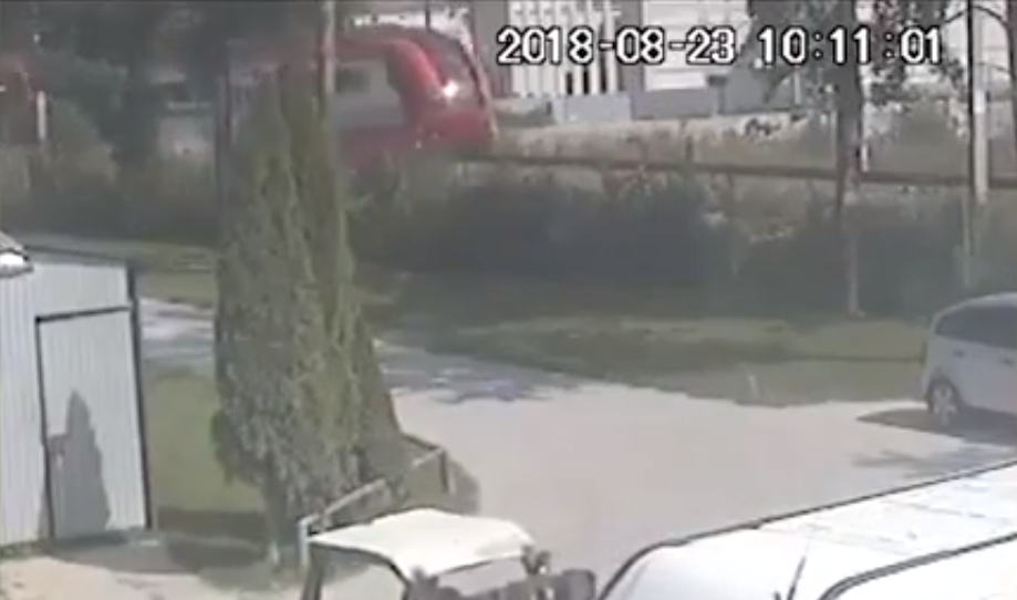 CCTV footage of train crash in Poland