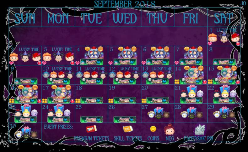 disney, tsum, tsum, september, 2018, event, fantasmic, new, calendar, details, rewards, tickets, items, how, it, works, how to play, friends, support, battles, villains, hades, maleficient, dragon, ursula