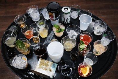 Alcoholic Drinks on Tray