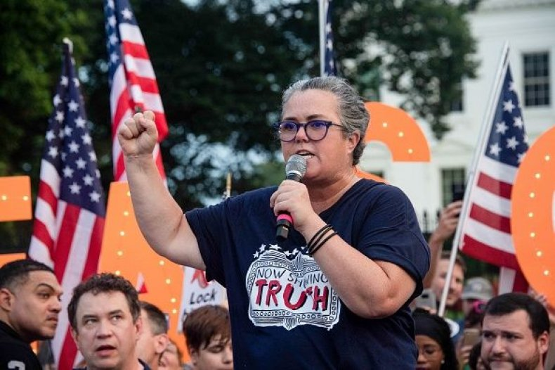 Rosie O'Donnell protests Trump