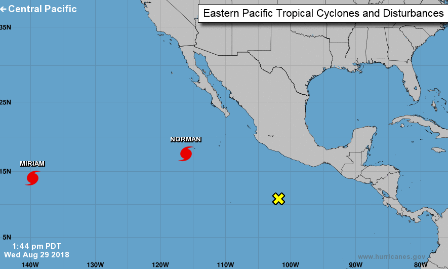 Hurricane Norman Miriam