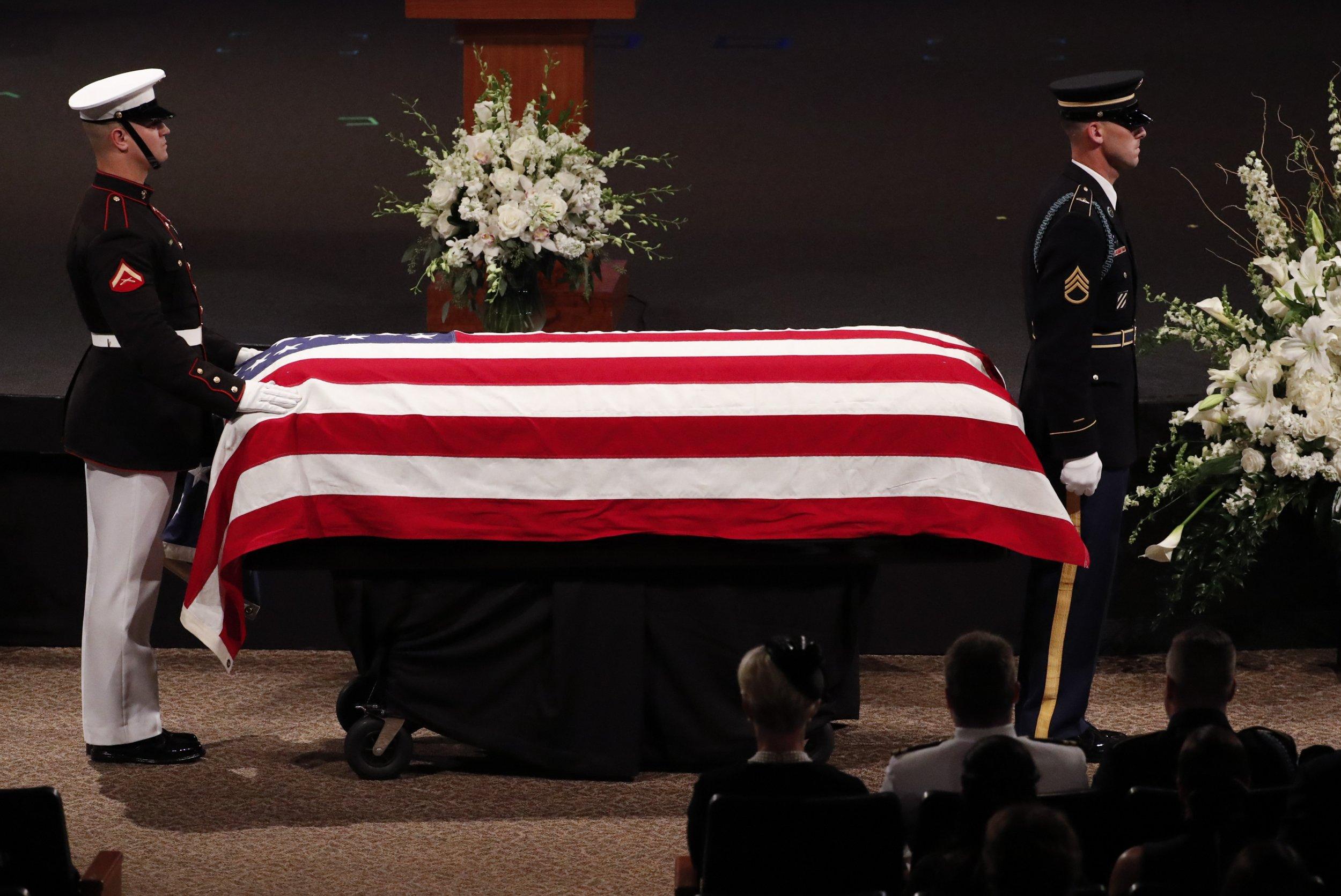 John McCain casket